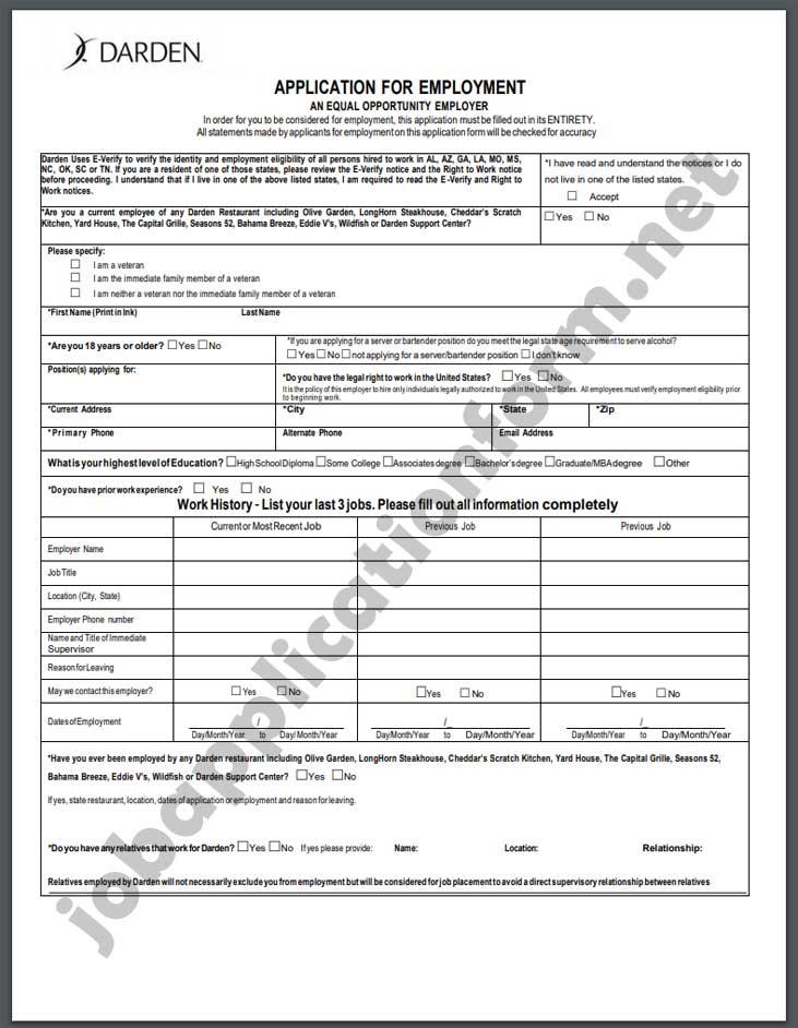 Bahama BreezeApplication Form PDF