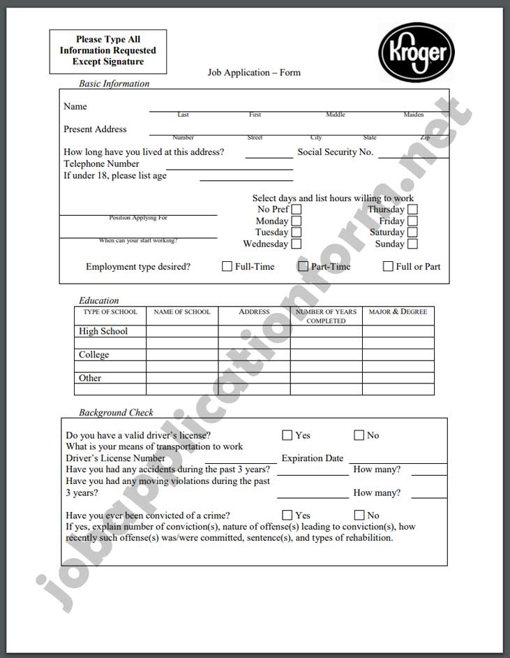 Metro Market Application Form PDF