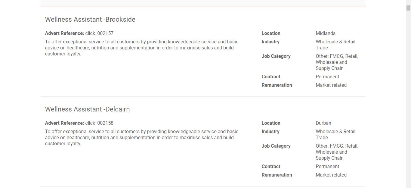 Clicks Application Online & PDF