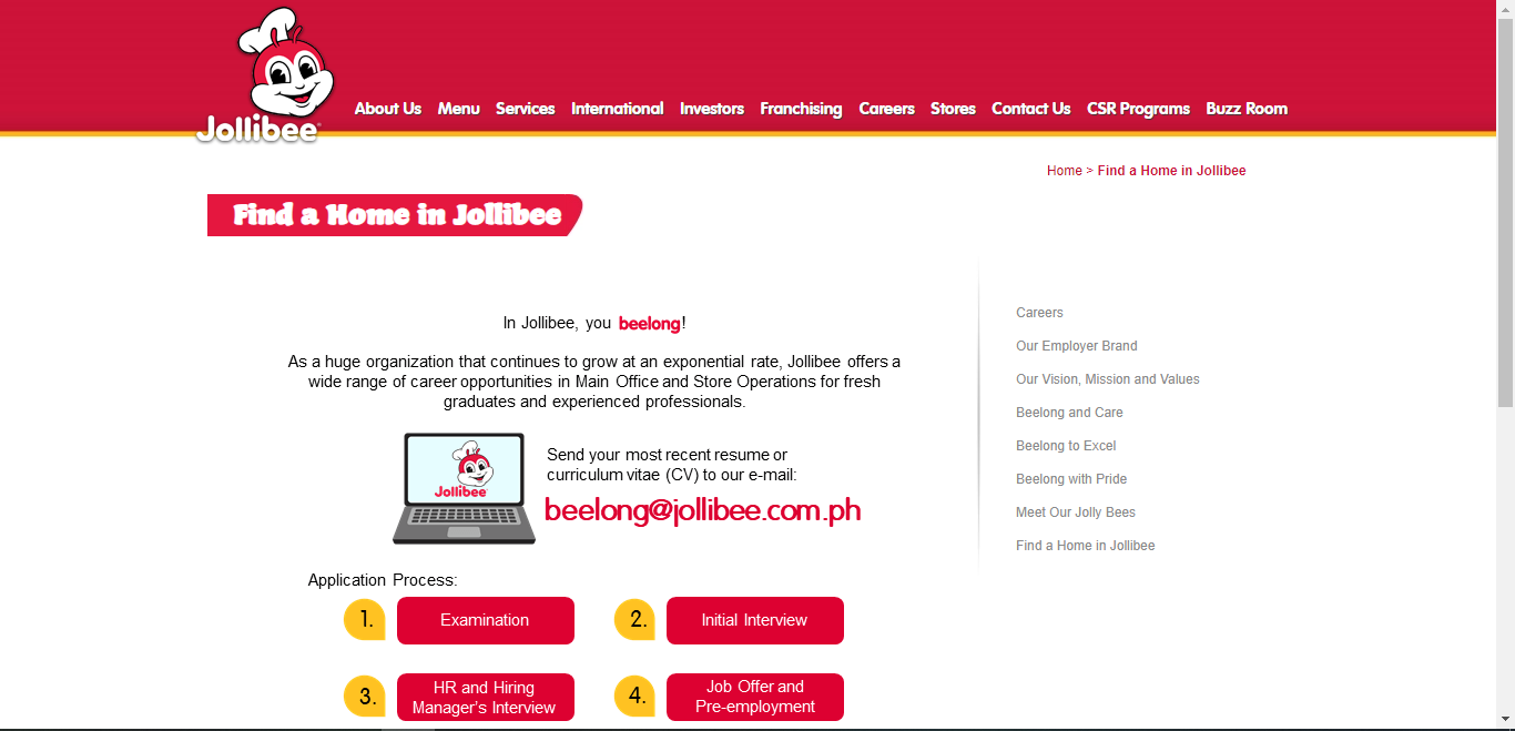Jollibee Application Online & PDF