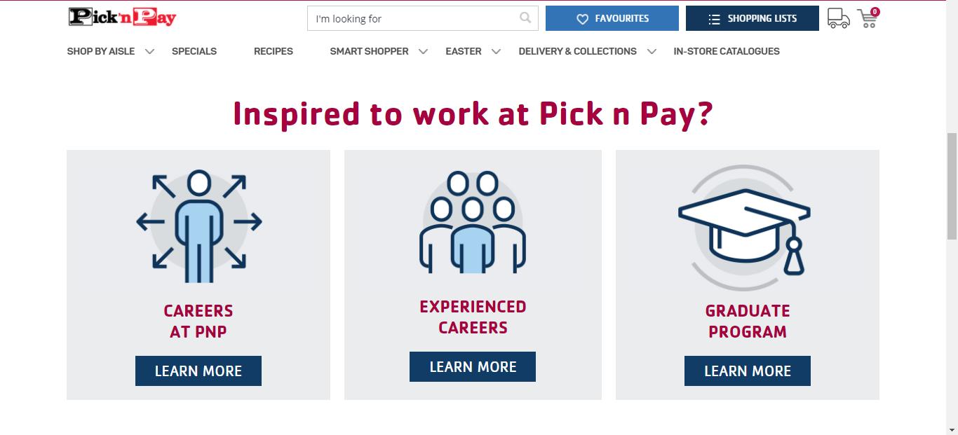 Pick n Pay Application Online & PDF