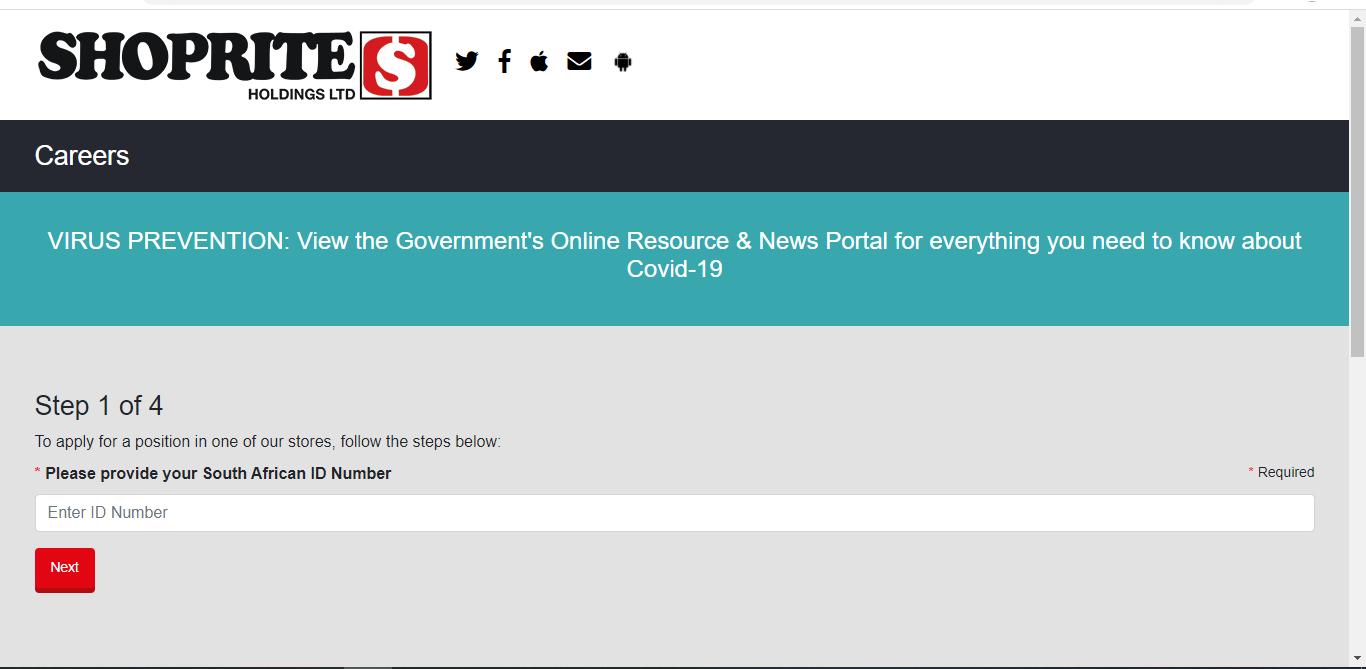 Shoprite (South Africa) Application Online & PDF